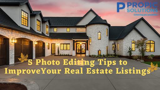 real estate photo editing tips